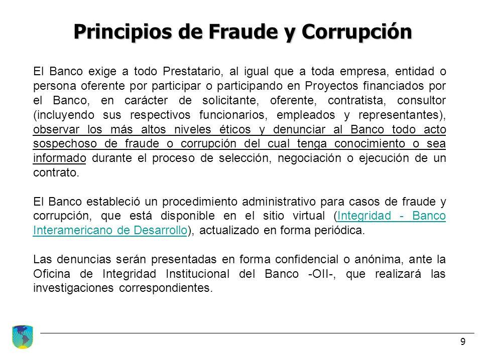 Principios de Fraude y Corrupción
