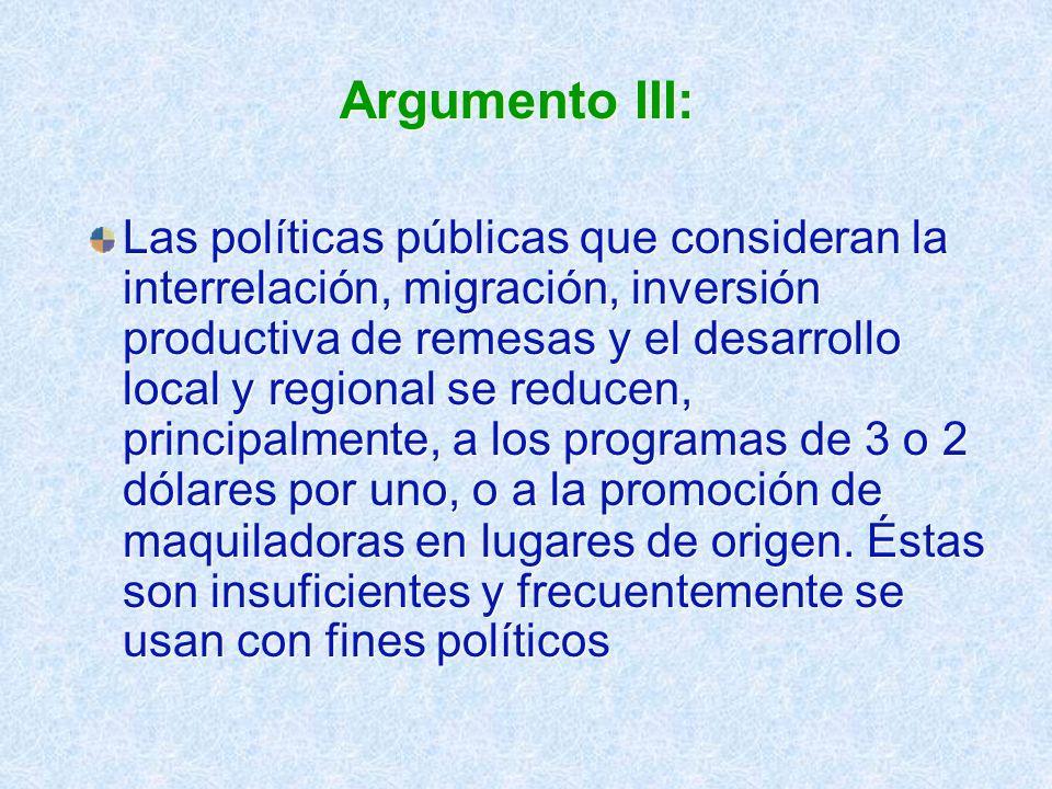 Argumento III: