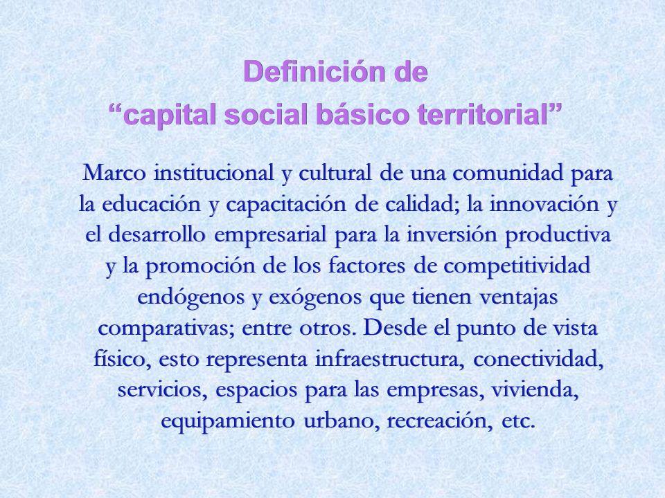 capital social básico territorial