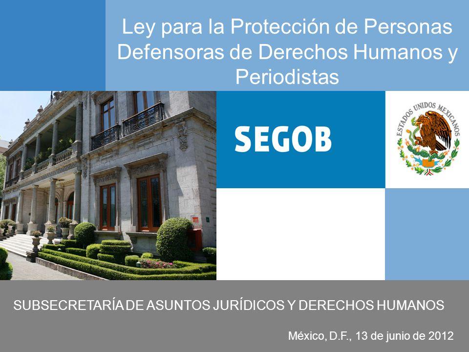SUBSECRETARÍA DE ASUNTOS JURÍDICOS Y DERECHOS HUMANOS