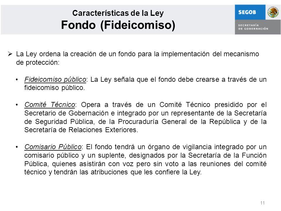 Características de la Ley Fondo (Fideicomiso)