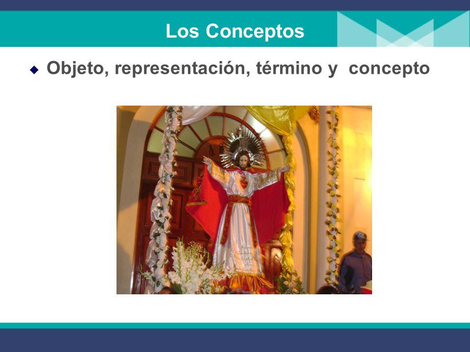 Los Conceptos Objeto, representación, término y concepto