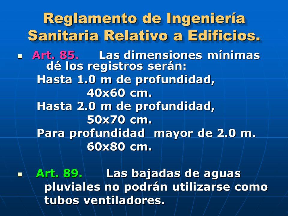 Reglamento de Ingeniería Sanitaria Relativo a Edificios.