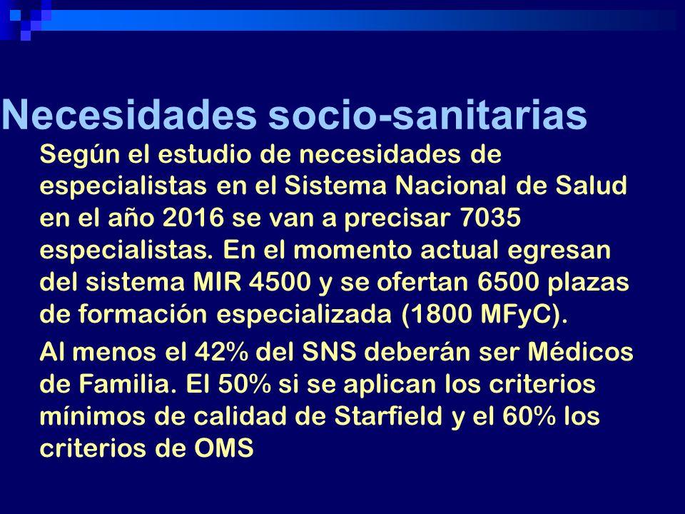 Necesidades socio-sanitarias