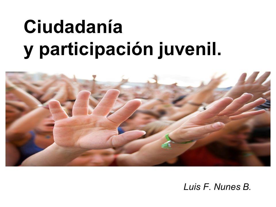 Ciudadanía y participación juvenil.
