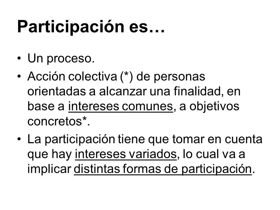 Participación es… Un proceso.