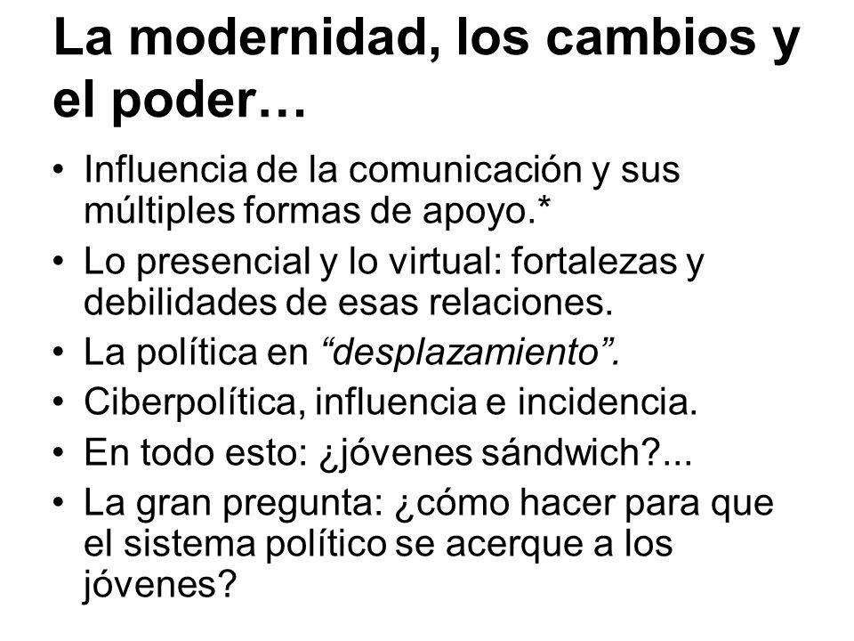 La modernidad, los cambios y el poder…
