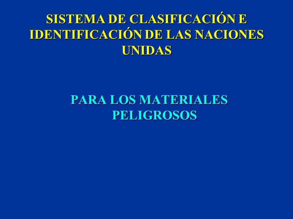 SISTEMA DE CLASIFICACIÓN E IDENTIFICACIÓN DE LAS NACIONES UNIDAS