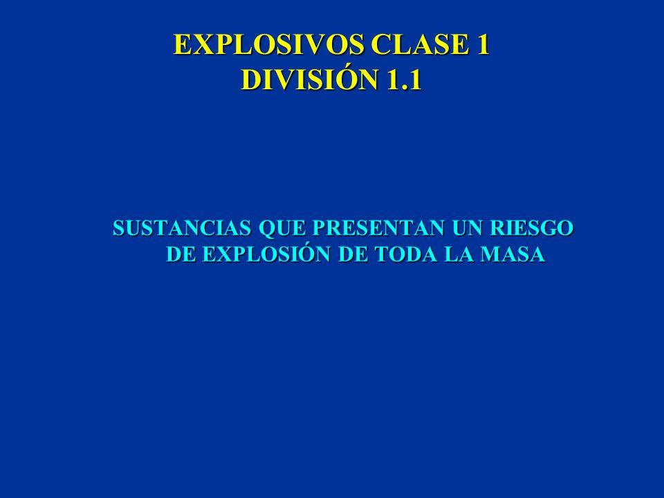 EXPLOSIVOS CLASE 1 DIVISIÓN 1.1