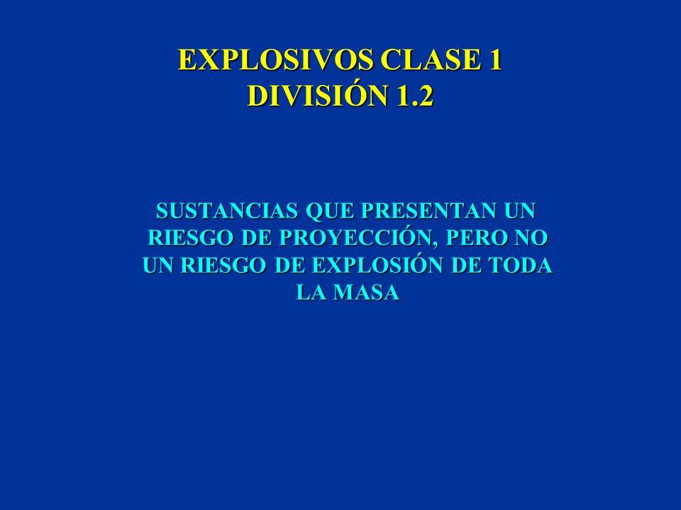 EXPLOSIVOS CLASE 1 DIVISIÓN 1.2