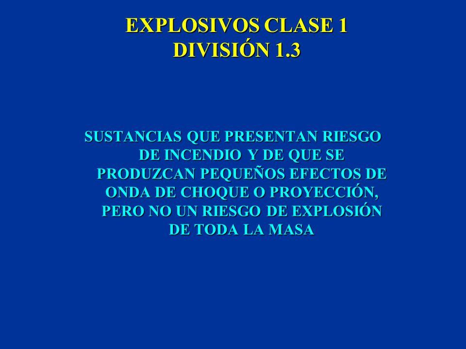EXPLOSIVOS CLASE 1 DIVISIÓN 1.3