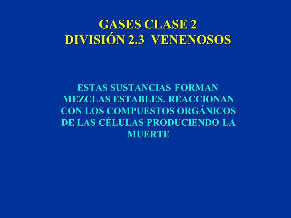 GASES CLASE 2 DIVISIÓN 2.3 VENENOSOS