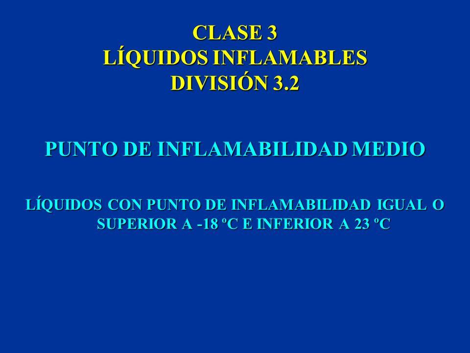 CLASE 3 LÍQUIDOS INFLAMABLES DIVISIÓN 3.2