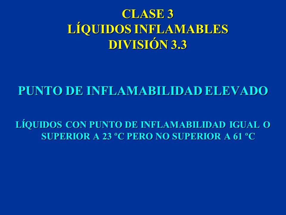 CLASE 3 LÍQUIDOS INFLAMABLES DIVISIÓN 3.3