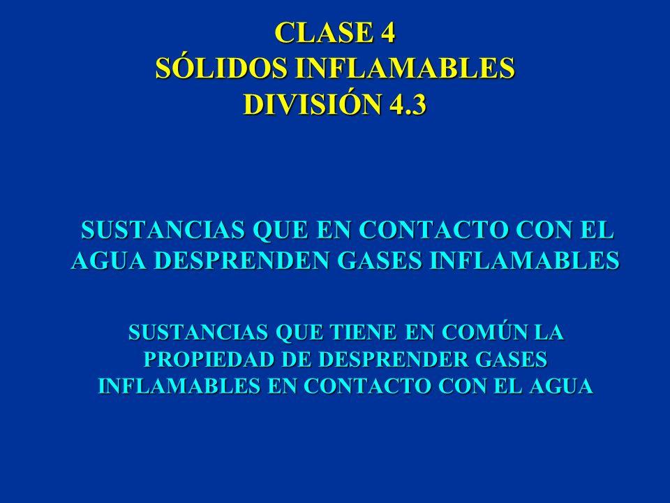 CLASE 4 SÓLIDOS INFLAMABLES DIVISIÓN 4.3