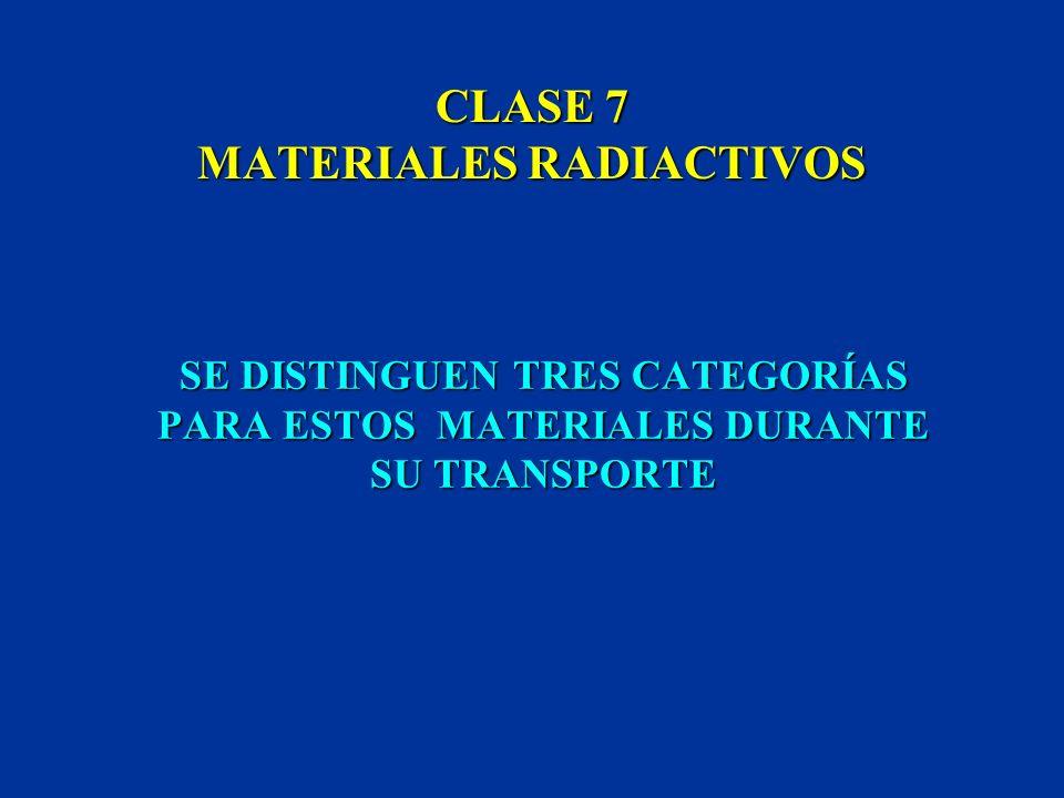 CLASE 7 MATERIALES RADIACTIVOS