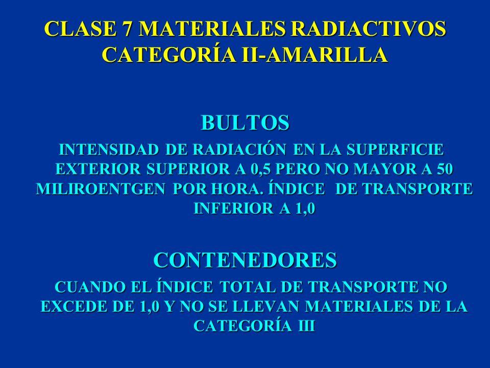 CLASE 7 MATERIALES RADIACTIVOS CATEGORÍA II-AMARILLA