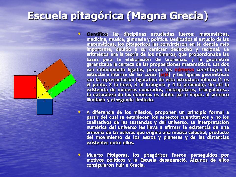 Escuela pitagórica (Magna Grecia)