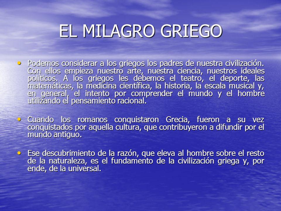 EL MILAGRO GRIEGO