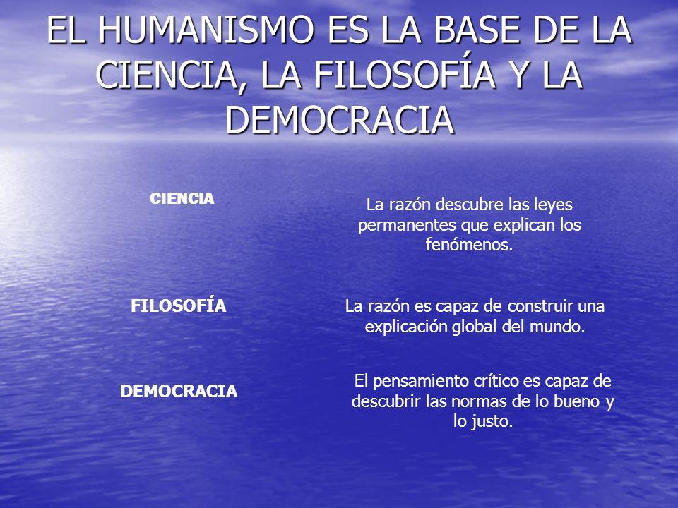 EL HUMANISMO ES LA BASE DE LA CIENCIA, LA FILOSOFÍA Y LA DEMOCRACIA