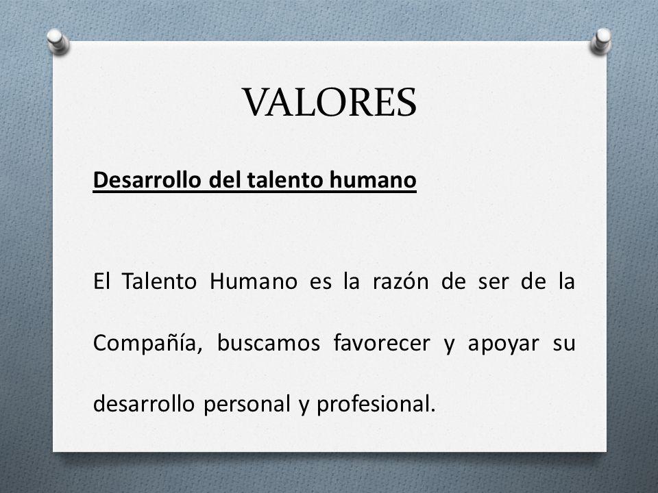 VALORES Desarrollo del talento humano.