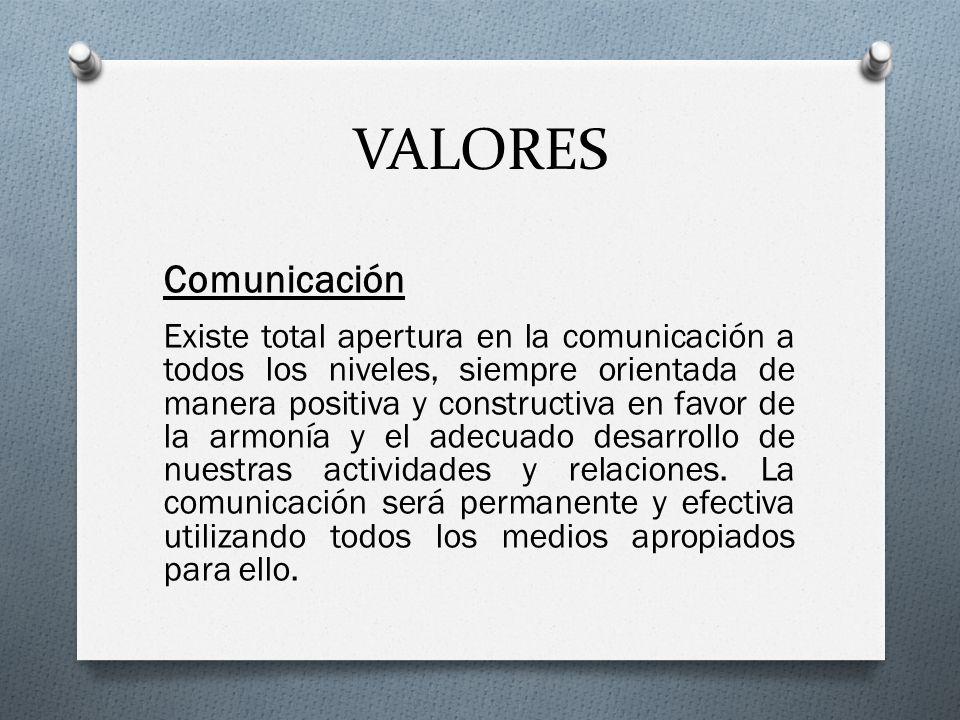 VALORES Comunicación.