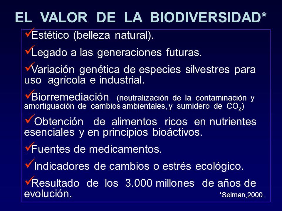 EL VALOR DE LA BIODIVERSIDAD*