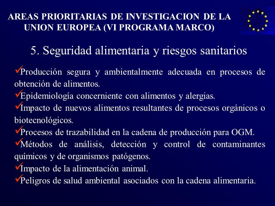 5. Seguridad alimentaria y riesgos sanitarios