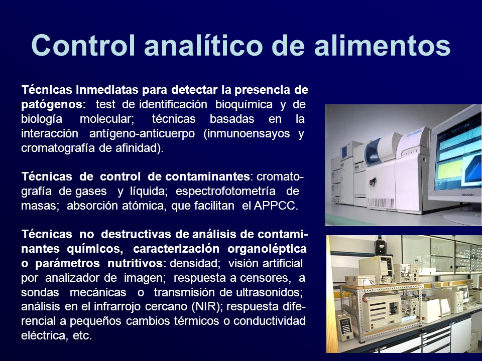 Control analítico de alimentos