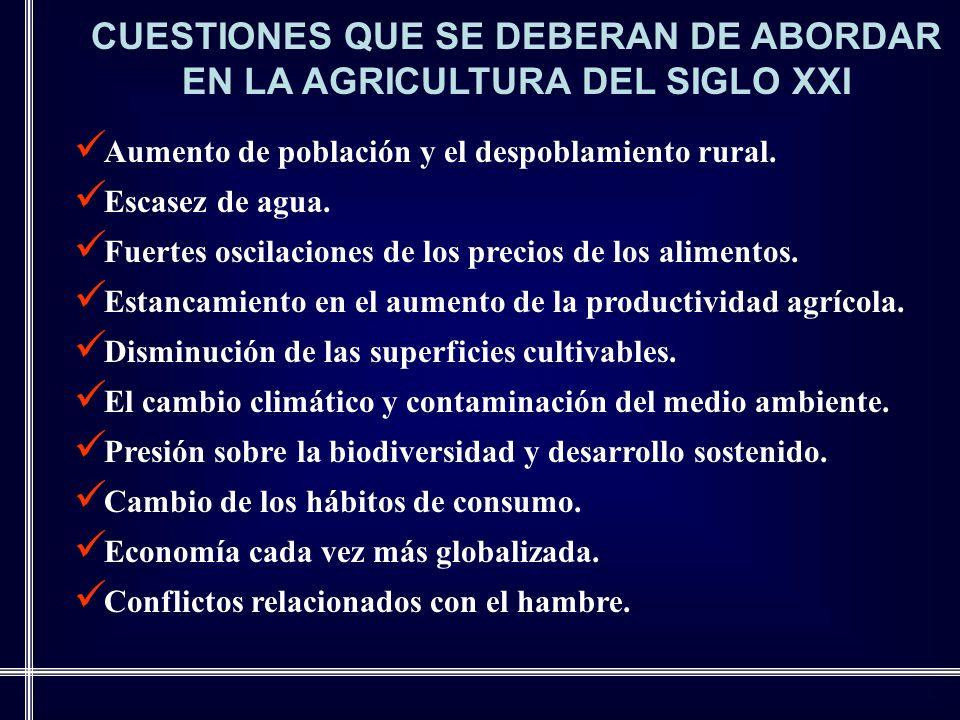 CUESTIONES QUE SE DEBERAN DE ABORDAR EN LA AGRICULTURA DEL SIGLO XXI