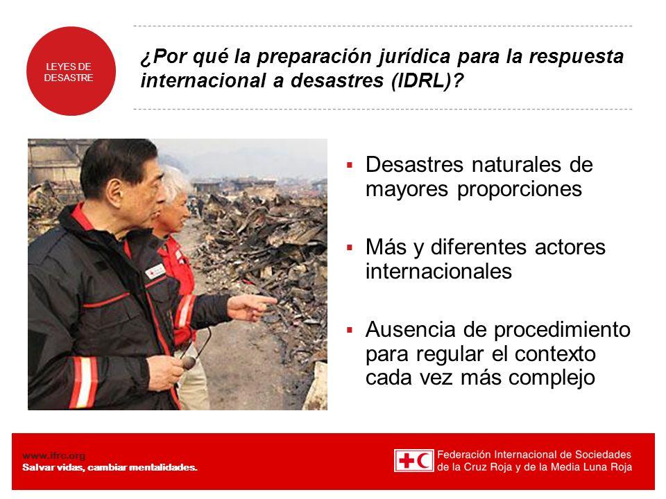 Desastres naturales de mayores proporciones