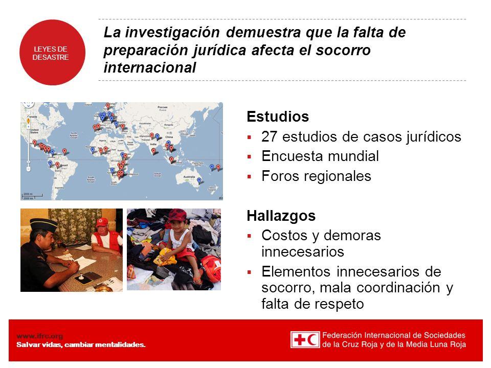 27 estudios de casos jurídicos Encuesta mundial Foros regionales