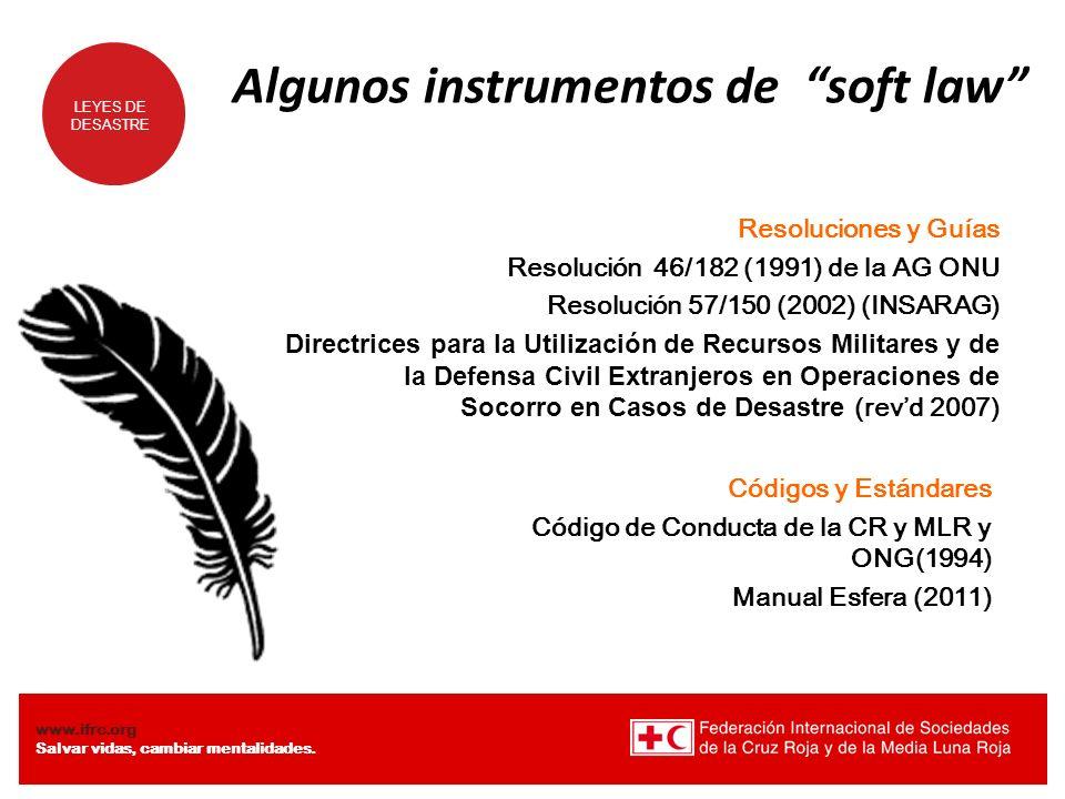 Algunos instrumentos de soft law