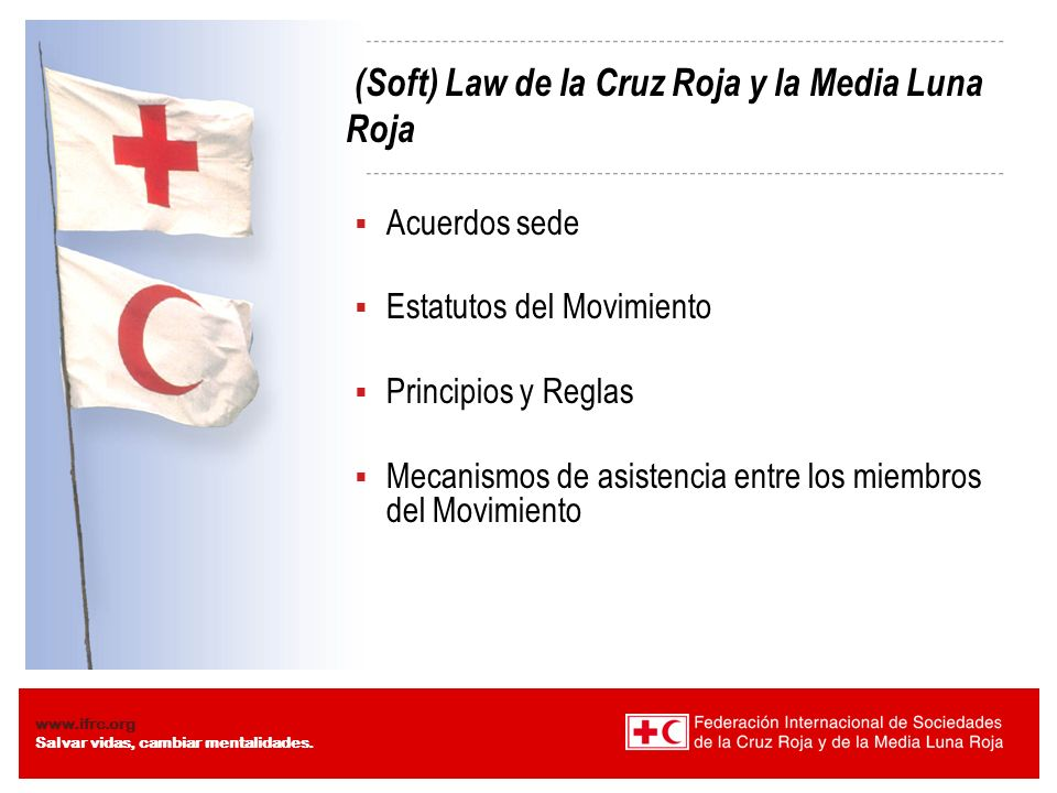 (Soft) Law de la Cruz Roja y la Media Luna Roja