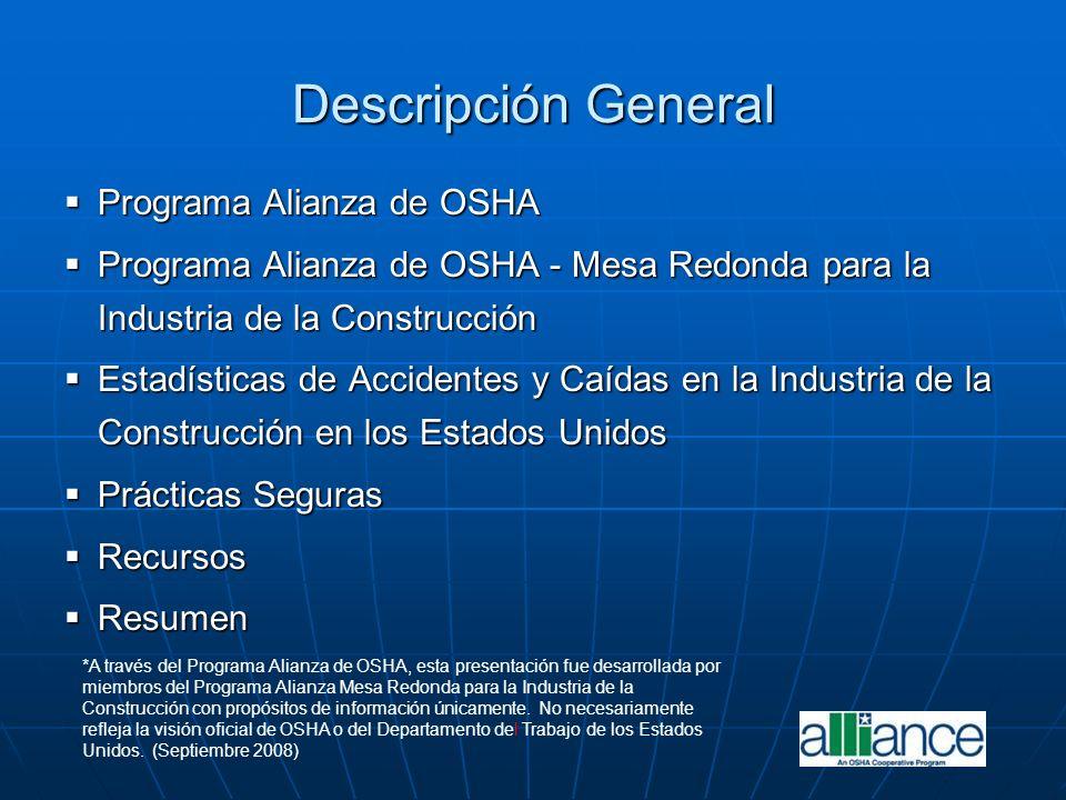 Descripción General Programa Alianza de OSHA