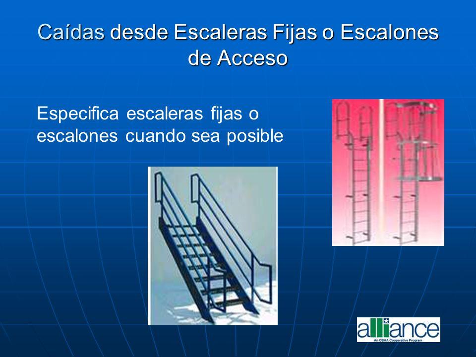 Caídas desde Escaleras Fijas o Escalones de Acceso