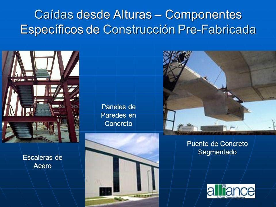 Caídas desde Alturas – Componentes Específicos de Construcción Pre-Fabricada