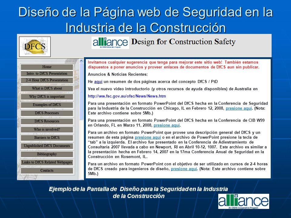 Diseño de la Página web de Seguridad en la Industria de la Construcción