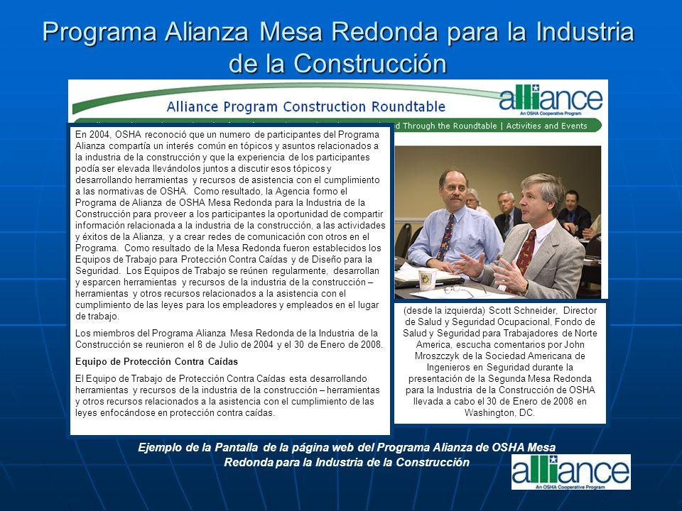 Programa Alianza Mesa Redonda para la Industria de la Construcción