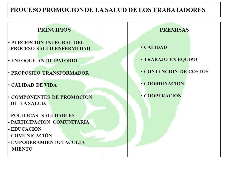 PROCESO PROMOCION DE LA SALUD DE LOS TRABAJADORES