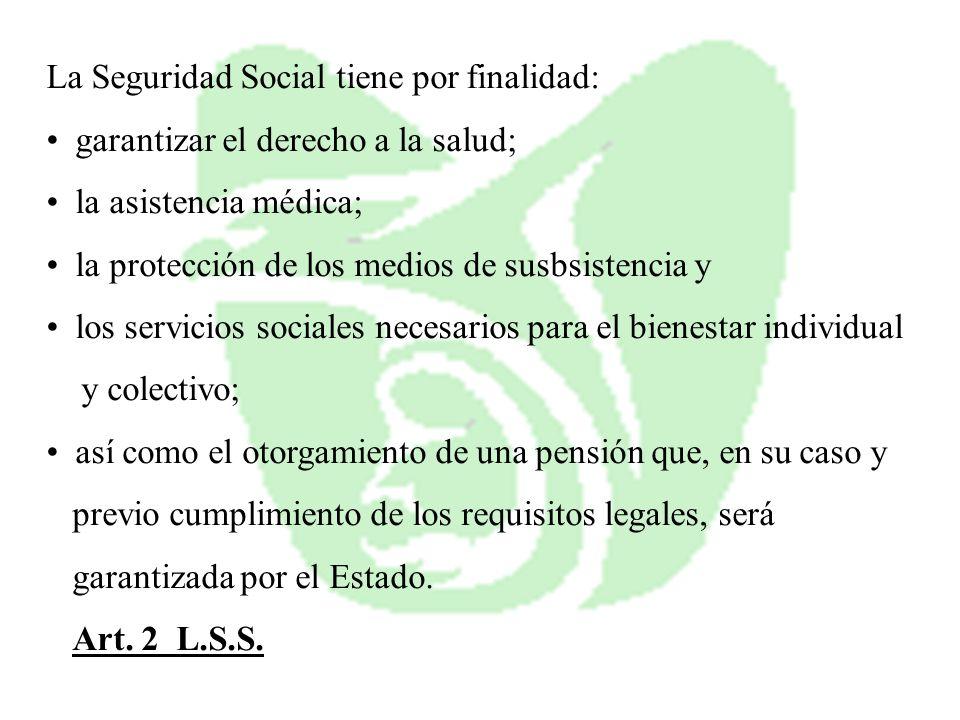 La Seguridad Social tiene por finalidad: