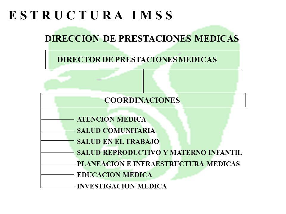 E S T R U C T U R A I M S S DIRECCION DE PRESTACIONES MEDICAS