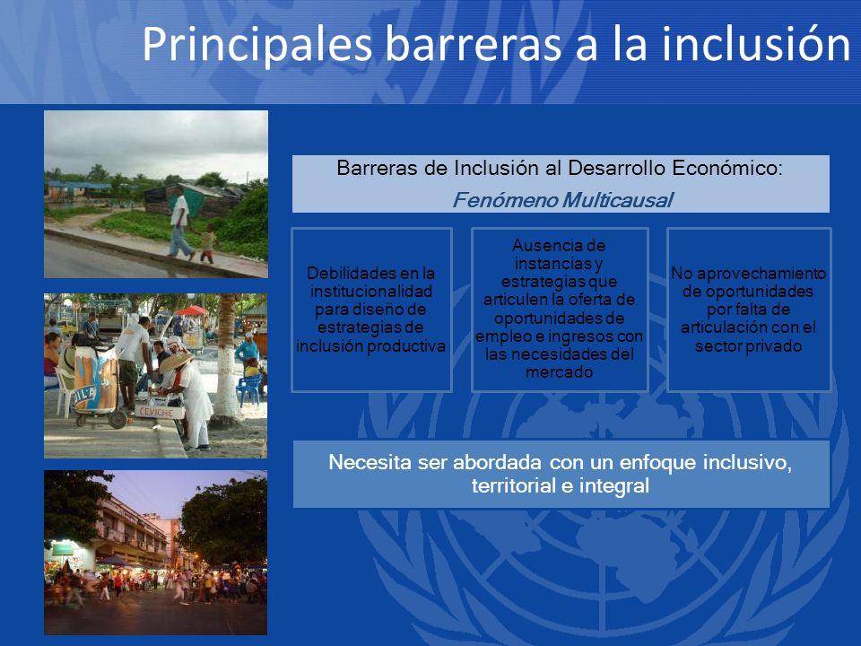 Principales barreras a la inclusión