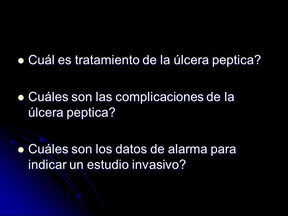 Cuál es tratamiento de la úlcera peptica