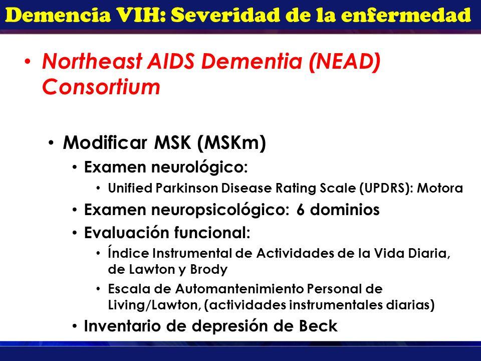 Demencia VIH: Severidad de la enfermedad