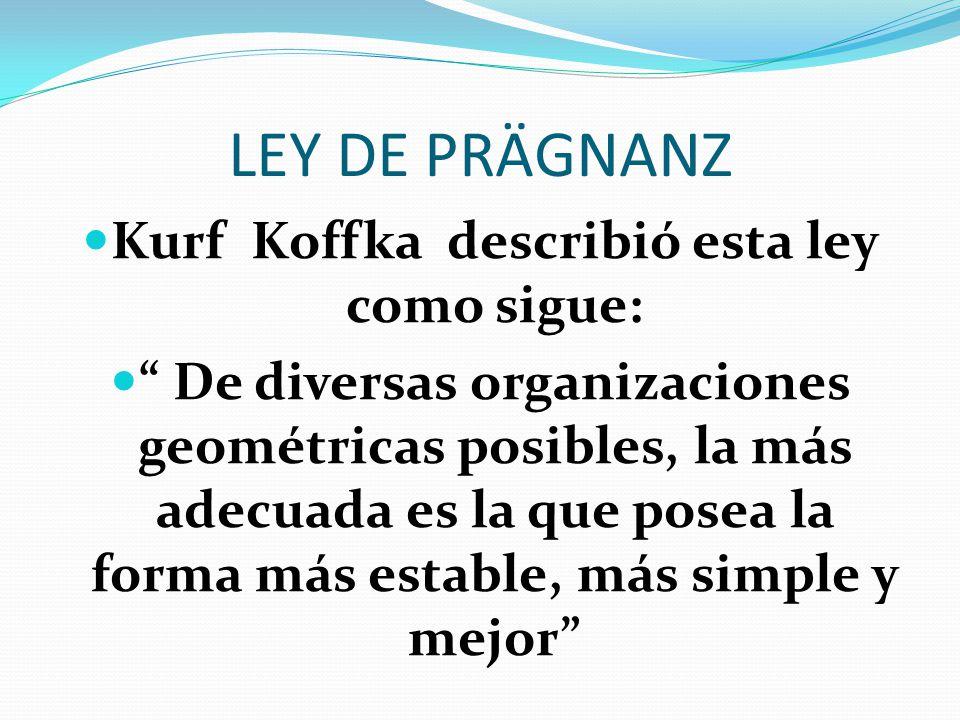 Kurf Koffka describió esta ley como sigue: