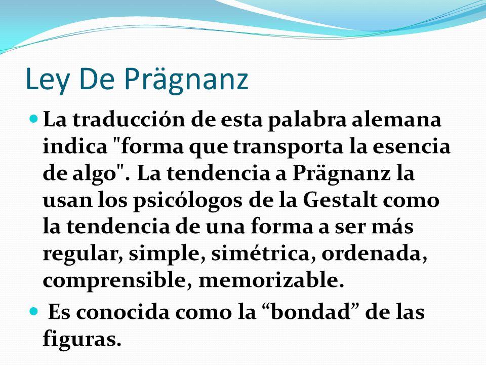 Ley De Prägnanz