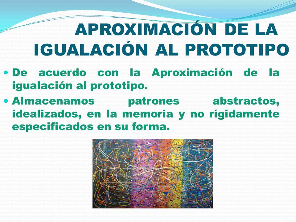 APROXIMACIÓN DE LA IGUALACIÓN AL PROTOTIPO