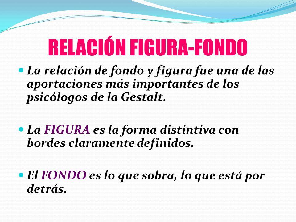 RELACIÓN FIGURA-FONDO