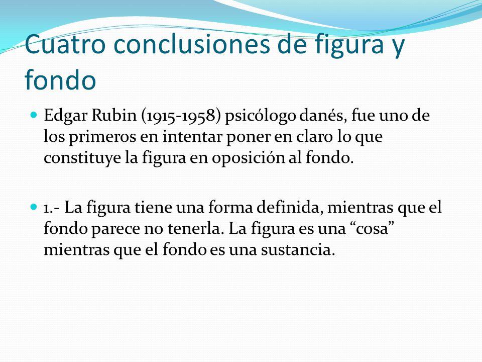 Cuatro conclusiones de figura y fondo